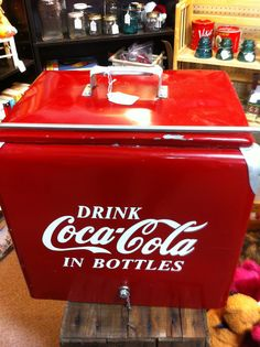 Vintage Coca Cola cooler from dealer MN9, $325, at Jesse James Antique Mall
