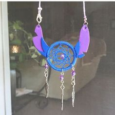 Stitch in a dream catcher? HECK YES. Amazing job @kimscustomcrafts . . . #supporthandmade #supportsmallbusiness #stitch #liloandstitch