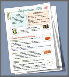 Fractions CM1 : séquence complète Math 5, Math Fractions, Multiplication, Cycle 3, Teacher Planner, Montessori Activities, Too Cool For School, School Stuff, Best Teacher