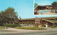https://flic.kr/p/y6EhRZ | Redwood Rancho Motel - Redwood City, California | 2834 El Camino Real Redwood City, California Adjoins Atherton & Redwood City, California Television & Phones in all rooms Heated Pool Peninsula's most pleasant family motel. AAA Approved.  Menlo Camera Shop, Menlo Park, Calif Dexter Color California, Inc.