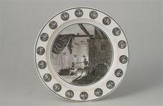 Plate with Masonic decor, 19th C.