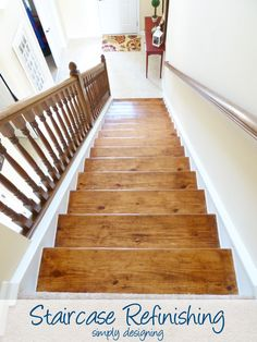 Painted stair risers on pinterest stair risers stair for Finishing a basement step by step guide