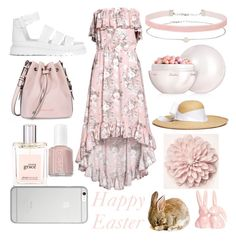 """""""Happy Easter"""" by amber-lanehart ❤ liked on Polyvore featuring Dr. Martens, Armani Jeans, Miss Selfridge, philosophy, Essie, Guerlain, Sensi Studio, Native Union and easter2017"""