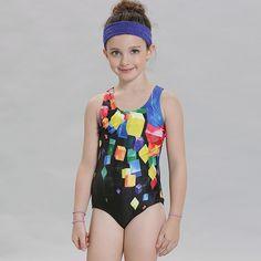 dab86c3420e Aliexpress.com : Buy Swimwear Gilr One Piece Swimsuit Lovely Girl Sports  Swimsuit for Child Geometric One Piece Bathing Suit Girls Print Swimwear  from ...