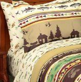 Fishing, Cabin, Lodge, Canoe King Comforter Set (8 Piece Bed In A Bag), http://www.amazon.com/dp/B00ACIQXCO/ref=cm_sw_r_pi_awdm_A0l3wb159PKJ9