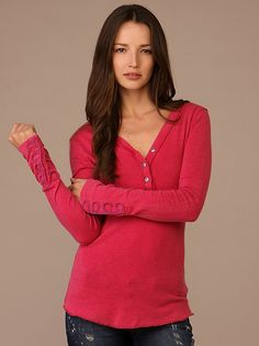 We The Free Melange Henley at Free People Clothing Boutique