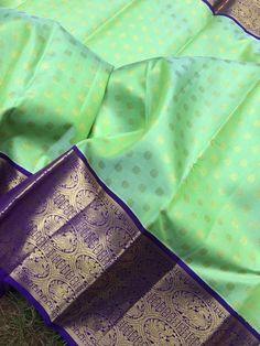 Pattu Saree Blouse Designs, Half Saree Designs, Saree Blouse Patterns, Designer Blouse Patterns, Kanchi Organza Sarees, Kanjivaram Sarees Silk, Soft Silk Sarees, Half Saree Lehenga, Lehnga Dress
