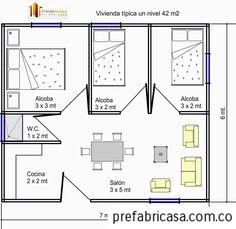Resultado De Imagen Para Alcobas Pequeñas Con Baño Para Jovenes  Universitariosu2026 Small House PlansSmall ...