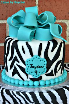 Idea for Robbi's birthday cake, maybe purple or red instead of blue?