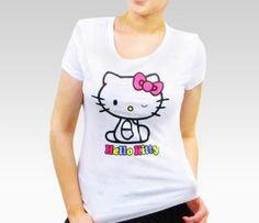 Hello Kitty Adult White Burnout Tee: Wink  #SephoraHelloKitty