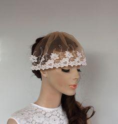 Bridal Veil Blusher Unusual Weddings Fascinator by MammaMiaBridal