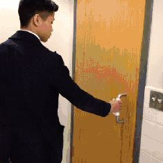 (gif) Exiting A Public Bathroom