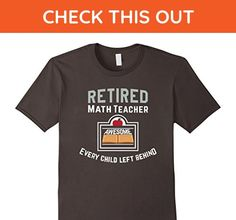 Mens Awesome Math Teacher Retired T Shirt for men and women Small Asphalt - Math science and geek shirts (*Amazon Partner-Link)