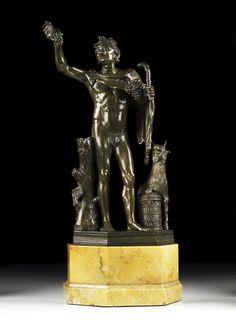 Italian bronze of Dionysus,18th century.