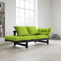 Amazon.com - Fresh Futon Beat Convertible Futon Sofa/Bed, Black Frame, Lime Mattress -