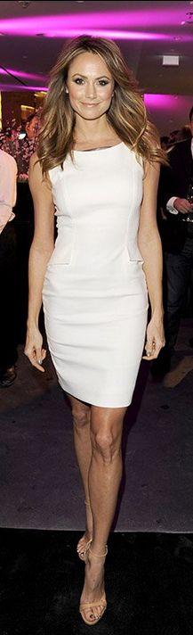 Stacy Keibler: Dress – Escada  Shoes – Giuseppe Zanotti