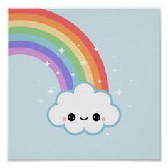 Cute Cloud Print