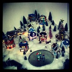 My Christmas village by Lauren Brady....that I painted all by myself!!