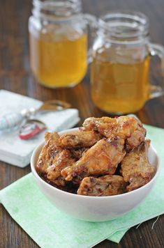 Recipe for baked honey chipotle chicken wings. Super crispy wings that are baked not fried. With a sweet and smoky sauce. Perfect for game day.