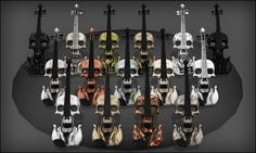 Skull Violin - Texture Versions | Flickr - Photo Sharing!