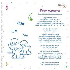 Preschool Spanish, Preschool Songs, Kids Songs, Learning Spanish, Spanish Songs, Spanish Lessons, Nursery Songs, Nursery Rhymes, Bilingual Education