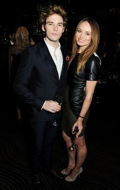 Sam Claflin and his fiancée, Laura Haddock, at the BAFTA Rising Stars Party