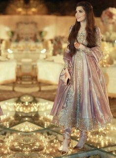 indian fashion Anarkali -- Click visit link to see Pakistani Formal Dresses, Shadi Dresses, Pretty Wedding Dresses, Wedding Dresses For Girls, Pakistani Dress Design, Party Wear Dresses, Designer Wedding Dresses, Indian Dresses, Bridesmaid Dresses