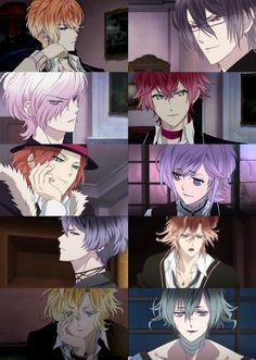Anime/game: Diabolik Lovers / Diabolik Lovers: More Blood [Shu Sakamaki / Reiji Sakamaki / Subaru Sakamaki / Ayato Sakamaki / Laito Sakamaki / Kanato Sakamaki / Ruki Mukami / Yuma Mukami / Kou Mukami / Azusa Mukami]