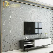 High Quality Thick Flocked Modern 3D Striped Wallpaper For Walls Living room Sofa TV Background Decor Home Wall Paper Rolls(China)