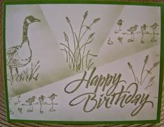 I tried a new technique this week. The Retiform Technique. I used a blank piece of card stock as my background. Post a Notes are used to b. Masculine Birthday Cards, Birthday Cards For Men, Handmade Birthday Cards, Masculine Cards, Male Birthday, Happy Birthday, Fall Cards, Holiday Cards, Hand Made Greeting Cards