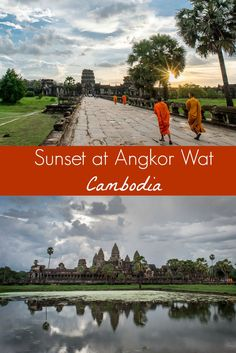 Sunset photography at the temples and ruins of Angkor Wat, Cambodia