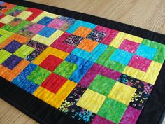 Quilted Batik Rainbow Easter Table Runner by countrysewing4U, $50.00