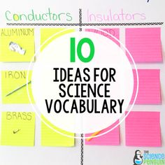 10 Ideas for Science Vocabulary Teaching Scientific Method, Teaching Science, Student Learning, Learn Science, Vocabulary Activities, Vocabulary Words, Science Penguin, Halloween Science, Elementary Science