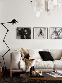 Photos, couch...neutral cream with black