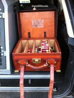 I think this Vintage cartridge case, supplied by Rhodes-Wood of Harrogate looks better in my trunk.