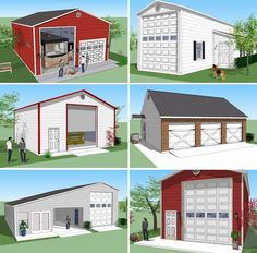 Bradley Mighty Steel RV Garage for sale, RV Shelter pricing Rv Garage, Garage Plans, Garage Ideas, Shed Floor Plans, Barn Plans, Shop Buildings, Metal Buildings, Metal Shop Building, Building A House