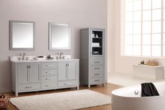 "Brand New at Hot&Cold Plumbing Supply Kitchen & Bath Studio! Avanity Corporation 72"" Modero Double Vanity in Chilled Gray"
