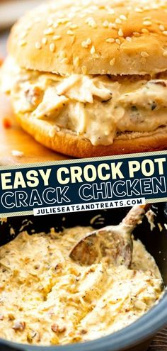 Looking for more quick and easy dinner ideas? Crack Chicken will become one of your favorites! You only need 10 minutes of prep to get those 5 simple ingredients in the crockpot. Your family is going to love it as a sandwich filling for busy weeknight meals or lunches.