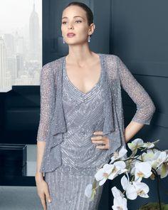 Detalle de este modelo de la colección fiesta 2015 de Rosa Clara con chaqueta incluida
