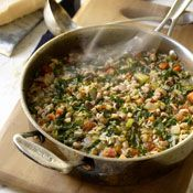 Hoppin' John Soup.  I made this last night…YUMMY!! great for those leftover black-eyed peas