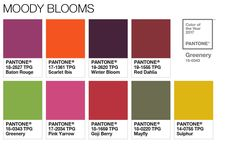 Color of the Year 2017 - Color Pairings and Palettes - Moody Blooms Palette #PANTONE #COLOROFTHEYEAR