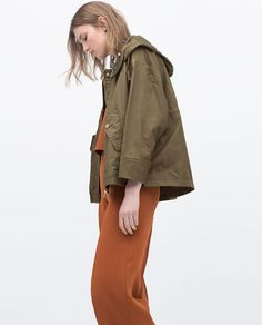 Image 4 of COMBINED KNIT SHORT PARKA from Zara | Style | Pinterest ...