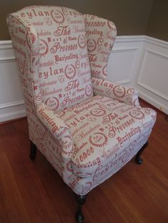 Shabby Chic French Wingback chair