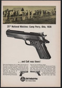 1965 COLT Automatic .38 Special Pistol Print AD : Other Collectibles at GunBroker.com