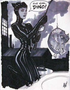 Catwoman art by Adam Hughes Batman DC Comics