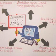 """konkurs na plakat """"Bezpieczny Internet"""" - Galerie zdjęć - Cyfrowobezpieczni.pl - Bezpieczna Szkoła Cyfrowa Internet, Media Literacy, Digital Citizenship, Preschool, Bujo, Poster, Kid Garden, Kindergarten, Billboard"""