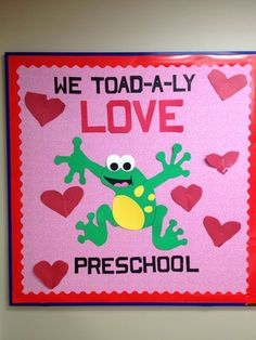 valentine bulletin board | My valentines preschool board | Bulletin Boards & Doors