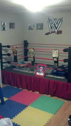 wrestling ring bed i built - Wrestling Bedroom Decor