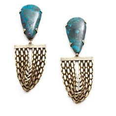 Citrine By the Stones Toltec Earrings via www.ladymoorslover.com.au