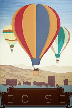 Boise Hot Air Balloon Print by Laceybabe on Etsy, $21.00